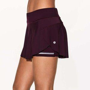Lululemon Quick Pace Skirt Dark Adobe Size 4